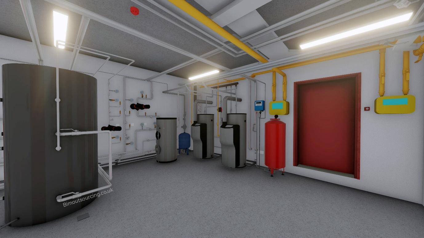 Boiler Room Heathlands Dementia Care Home 3D Model in AutoCAD Revit