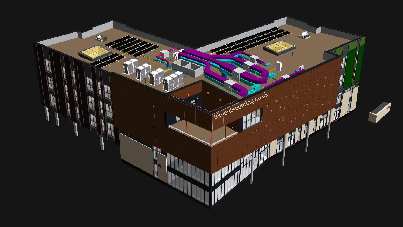 3D Model of KMC Innovation Centre Maidstone Borough Council in AutoCAD Revit