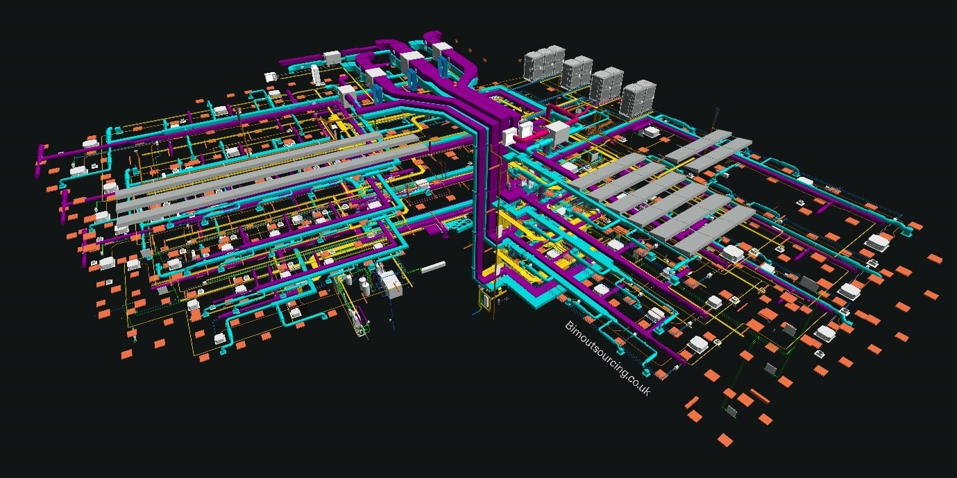 Electrical systems of KMC Innovation Centre Maidstone Borough Council 3D Model in AutoCAD Revit