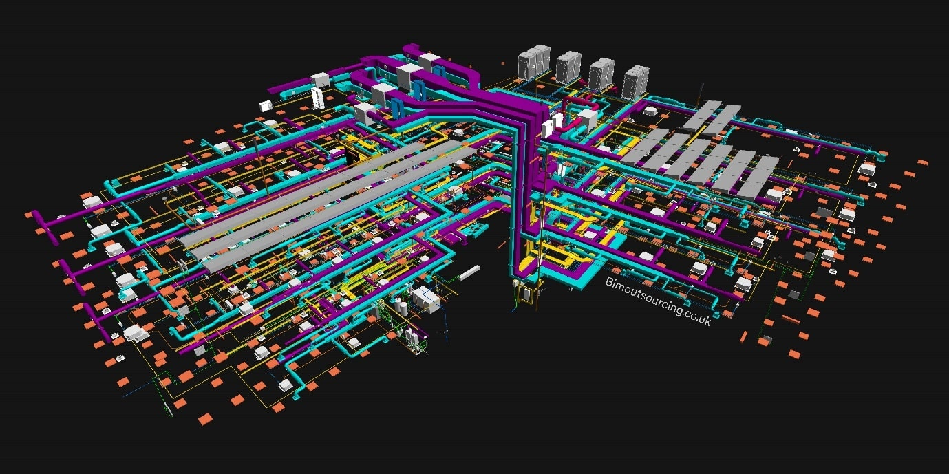 HVAC systems of KMC Innovation Centre Maidstone Borough Council 3D Model in AutoCAD Revit
