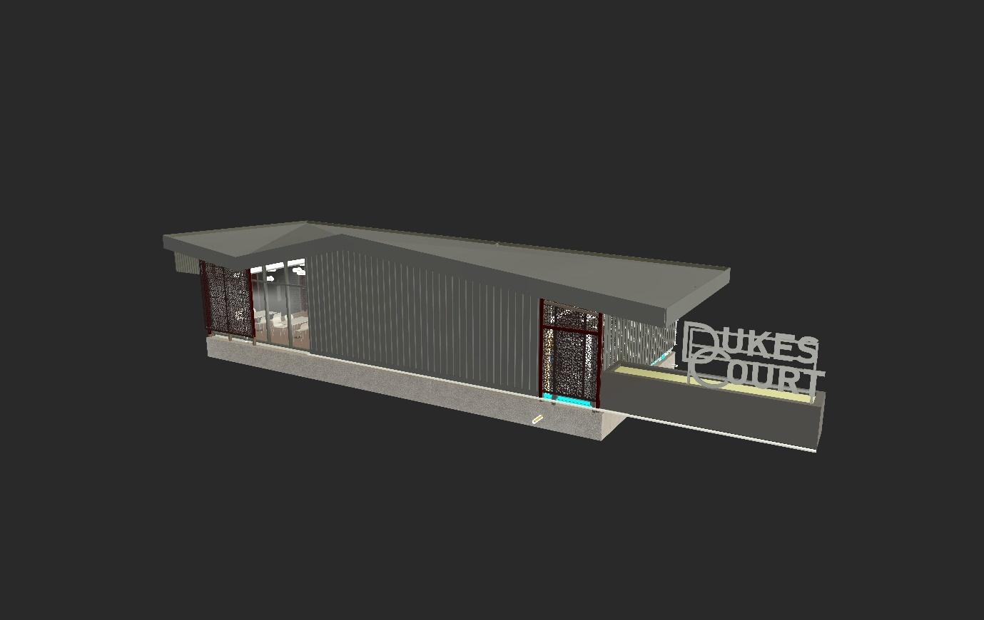 3d model Dukes Court Restaurant